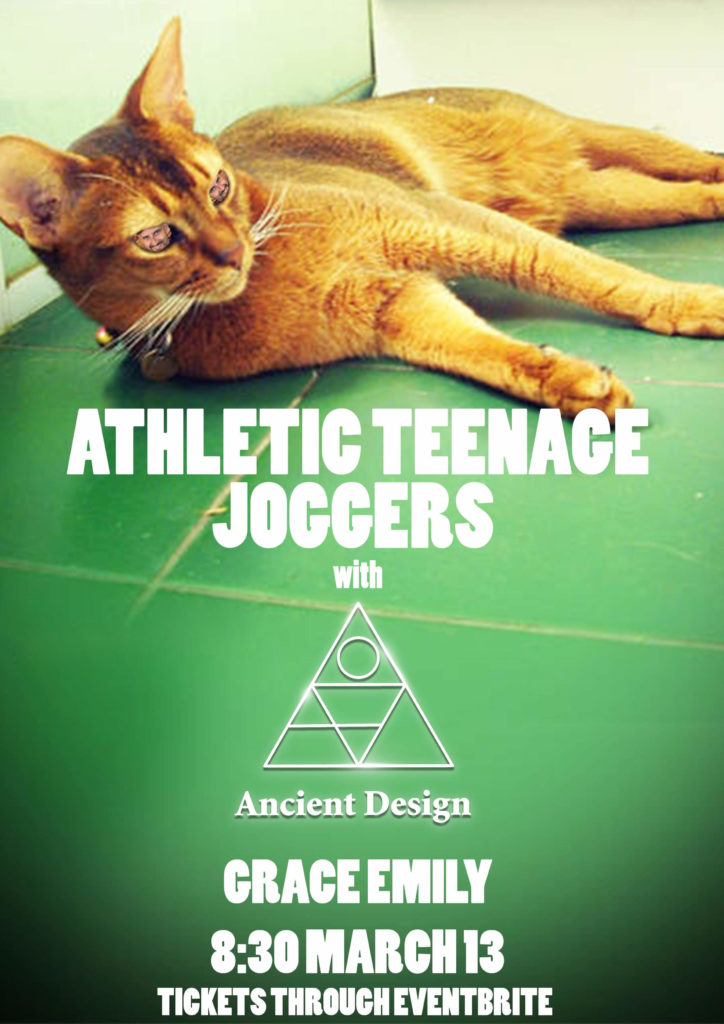 Athletic Teenage Joggers with Ancient Design at the Grace Emily, 8:30 PM 13th March 2021. Tickets at Eventbrite.
