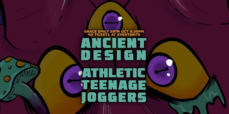 Ancient Design and Athletic Teenage Joggers at the Grace Emily Hotel, 29th October 2021